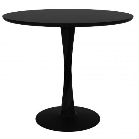 Table ronde TORSION d'Ethnicraft, 2 tailles, Noir
