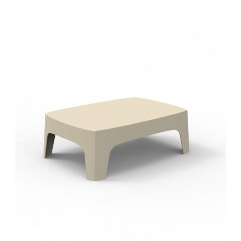 Table basse SOLID de Vondom, Écru
