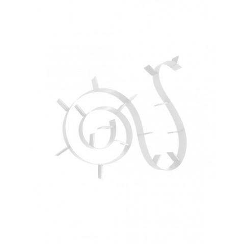 Etagère BOOKWORM de Kartell, Blanc, L.820 X H.19 X P.20