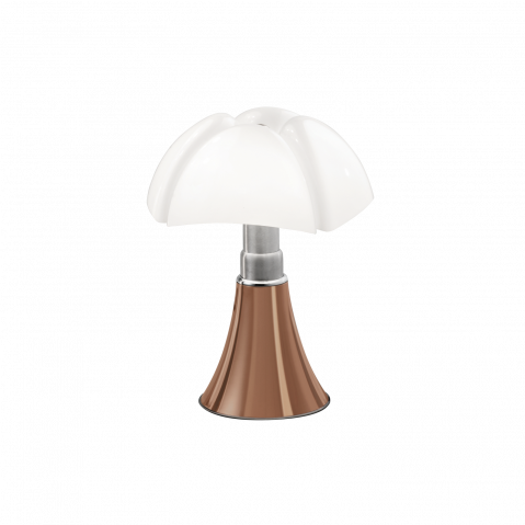 Lampe à poser MINI PIPISTRELLO LED TACTILE DIMMABLE de Martinelli Luce, Cuivre