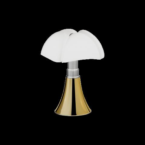 Lampe à poser MINI PIPISTRELLO LED TACTILE DIMMABLE de Martinelli Luce, doré