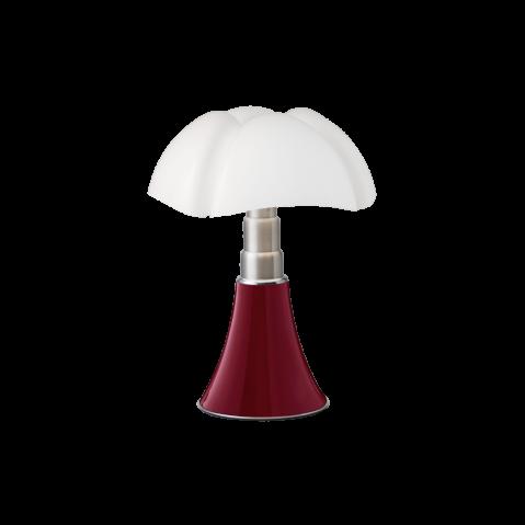 Lampe à poser MINI PIPISTRELLO LED TACTILE DIMMABLE de Martinelli Luce, Rouge pourpre