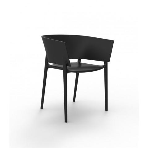 Chaise AFRICA de Vondom, Noir