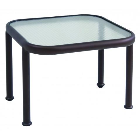 Table basse en verre carrée DOCK de Emu