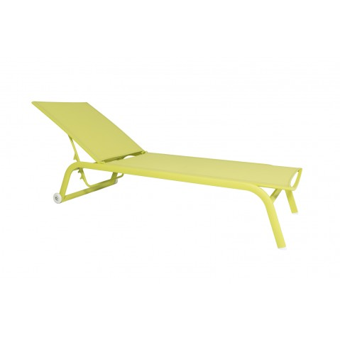 Chaise longue NINO vert citron