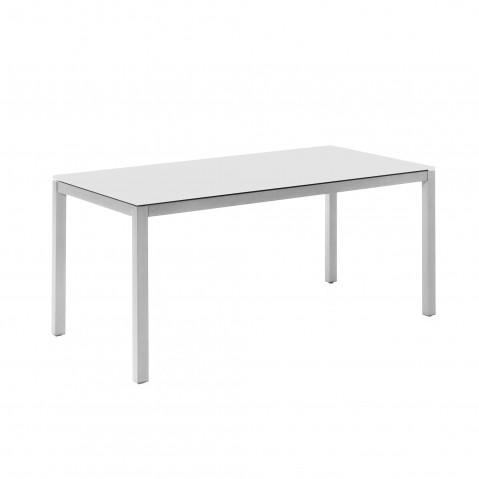Table JAVIER 160x90, gris argenté