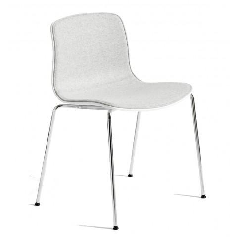 Chaise AAC16 de HAY, piétement en aluminium poli et revêtement tissu, 2 coloris