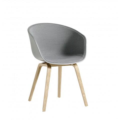 Chaise AAC22 de Hay avec tissu intérieur Surface, Concrete grey