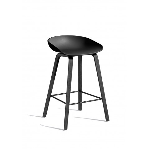 tabouret aas32 de hay avec pi tement noir 2 tailles 14 coloris. Black Bedroom Furniture Sets. Home Design Ideas