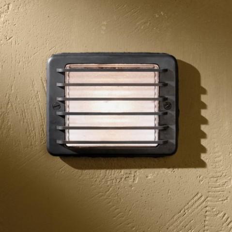 Appareil semi-encastré Nautic STEPLIGHT 230V LED bronze antique verre clair