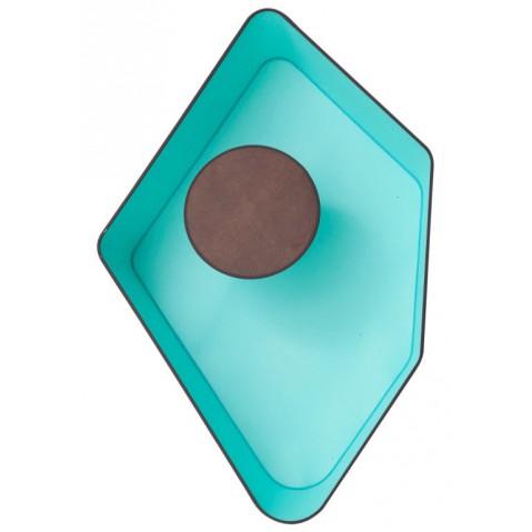 Applique GRAND NENUPHAR de Designheure, Marron-Turquoise