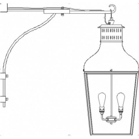 Applique Nautic MONTROSE WALL LARGE bronze antique verre clair