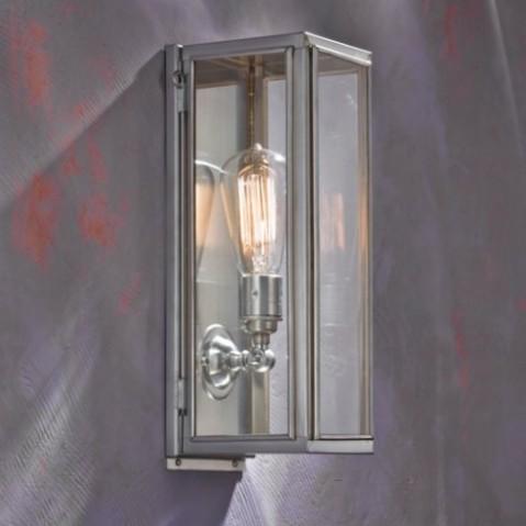 Applique Nautic ANNET bronze chromé mat verre clair