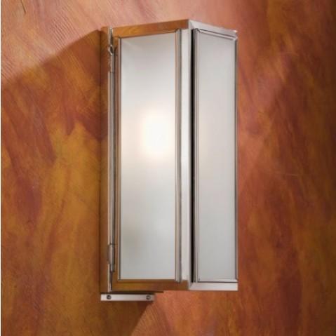 Applique Nautic ANNET bronze nickelé poli verre sablé