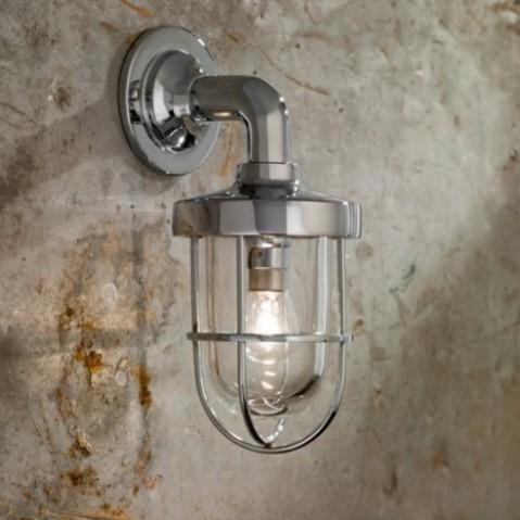 Applique Nautic BOUNTY WALL bronze chromé verre clair