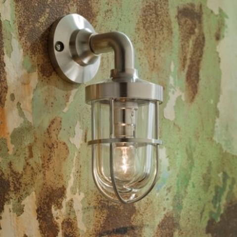 Applique Nautic BOUNTY WALL bronze nickelé mat verre clair
