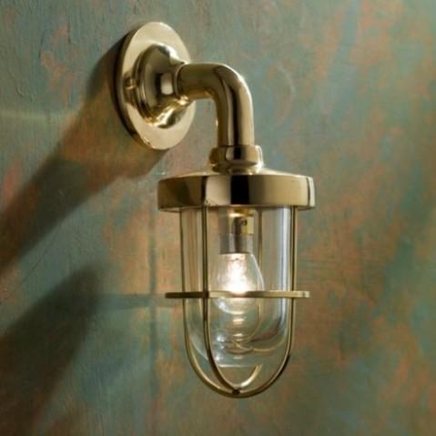 Applique Nautic BOUNTY WALL bronze poli verre clair
