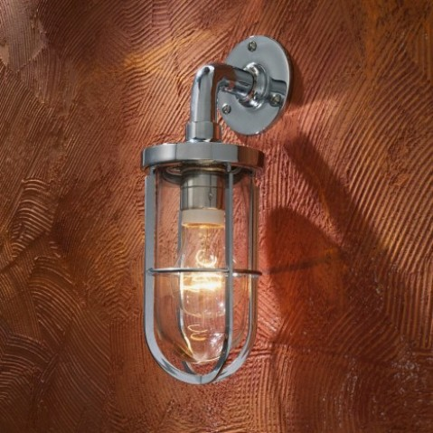 Applique Nautic DOCKLIGHT WALL bronze chromé verre clair
