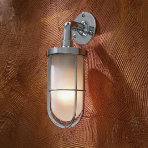 Applique Nautic DOCKLIGHT WALL bronze chromé verre sablé