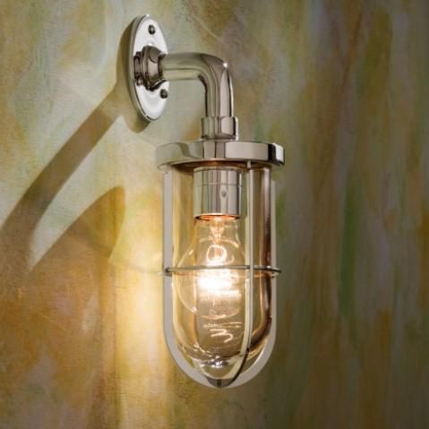Applique Nautic DOCKLIGHT WALL bronze nickelé poli verre clair