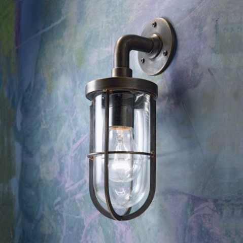 Applique Nautic DOCKLIGHT WALL bronze antique verre clair