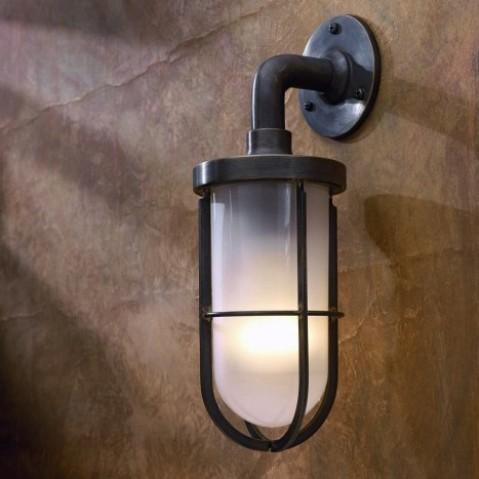 Applique Nautic DOCKLIGHT WALL bronze antique verre sablé