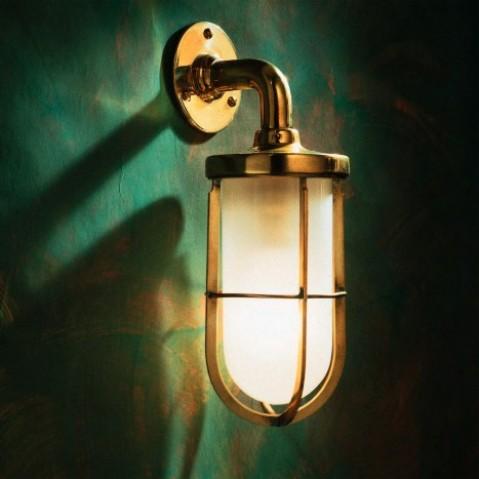 Applique Nautic DOCKLIGHT WALL bronze poli verre sablé