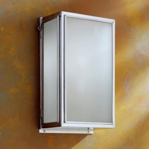 Applique Nautic ESSEX bronze chromé mat verre sablé
