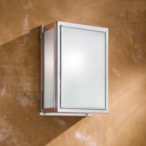 Applique Nautic ESSEX SMALL bronze chromé mat verre sablé