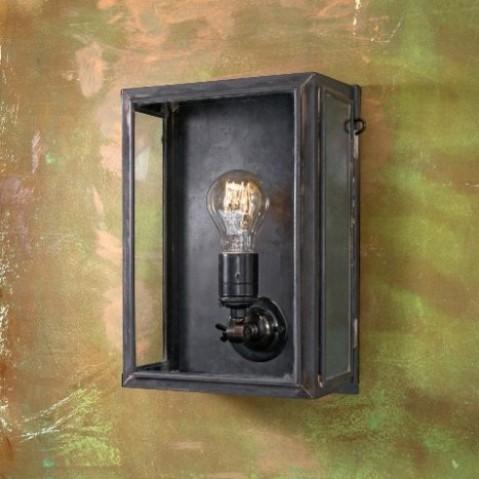 Applique Nautic ESSEX SMALL bronze antique verre clair