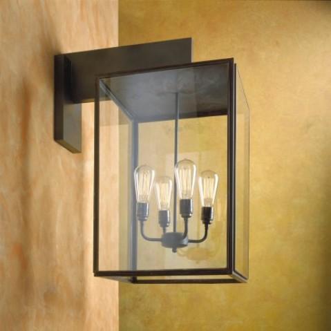 Applique Nautic ILFORD WALL LARGE bronze antique verre clair