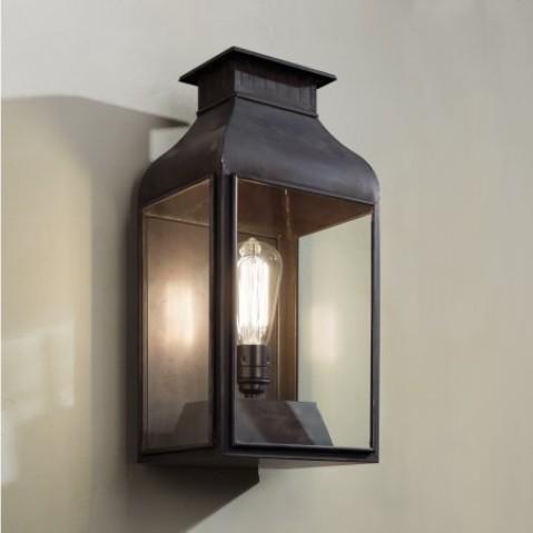 Applique Nautic PAGODE bronze antique verre clair