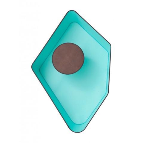 Applique PETIT NENUPHAR de Designheure, Marron-Turquoise