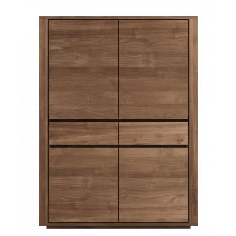 Armoire ELEMENTAL en teck d'Ethnicraft, 4 portes / 2 tiroirs