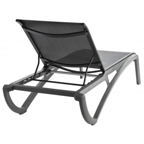 bain de soleil sunset de grosfillex noir gris. Black Bedroom Furniture Sets. Home Design Ideas
