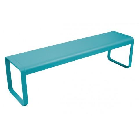 Banc BELLEVIE de Fermob bleu turquoise