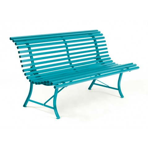 Banc LOUISIANE 150 de Fermob bleu turquoise