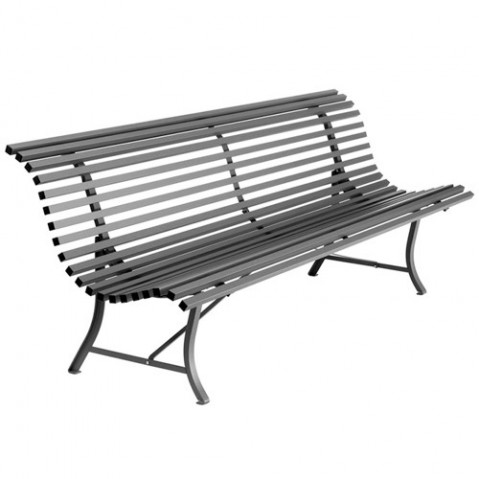 Banc LOUISIANE 200 de Fermob Carbone