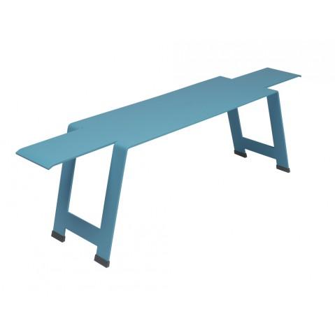 Banc ORIGAMI acier de Fermob bleu turquoise