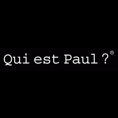BANC ROND COULEUR Qui est Paul Bleu Nuit