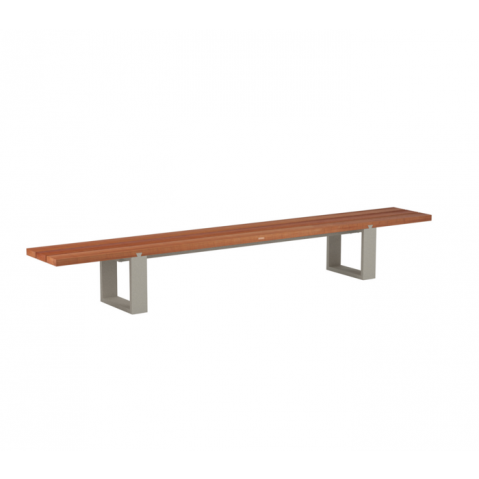 Banc VIGOR de Royal Botania, acajou, structure sable
