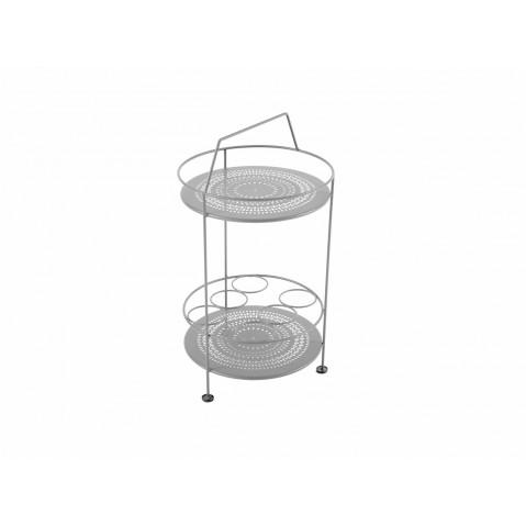 Bar portatif MONTMARTRE de Fermob gris métal