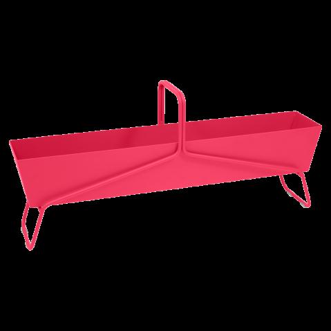 Jardinière format long BASKET de Fermob, Rose praline