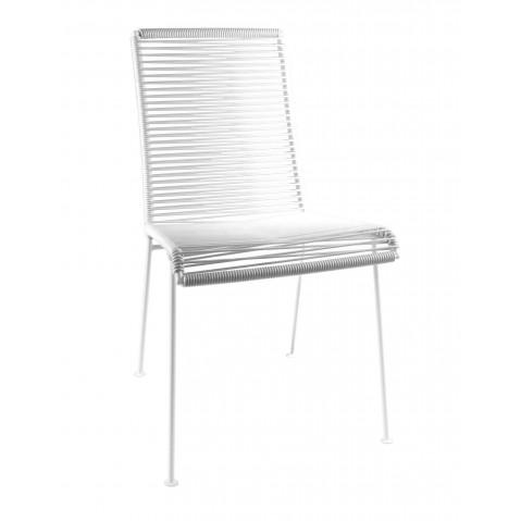 Chaise MAZUNTE de Boqa avec structure blanche, 17 coloris