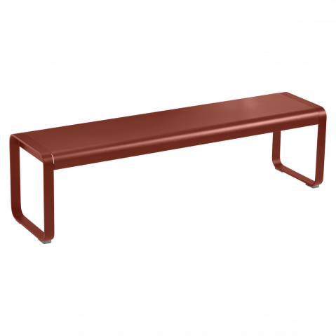 Banc BELLEVIE de Fermob, ocre rouge