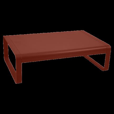 Table basse BELLEVIE de Fermob, ocre rouge