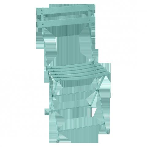 Chaise BISTRO métal de Fermob, Bleu lagune