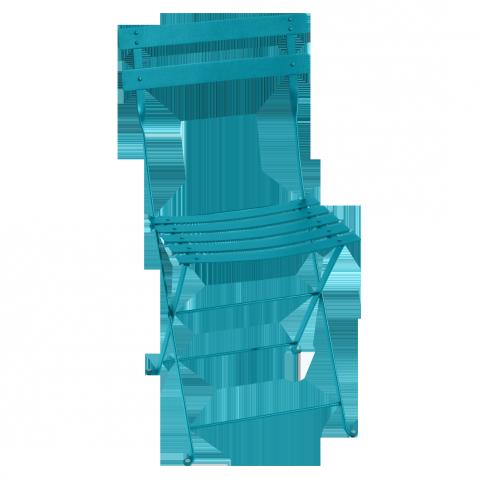 Chaise BISTRO métal de Fermob, Bleu Turquoise