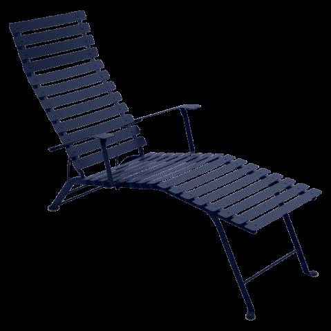 Chaise longue pliante BISTRO de Fermob, Bleu abysse