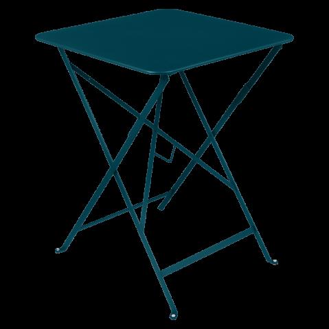 Table carrée BISTRO 57x57 bleu acapulco de Fermob